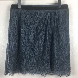 Club Monaco Charcoal Gray Lace Skirt
